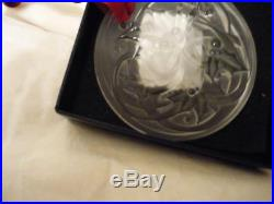 LALIQUE 2017 Entrelacs Clear Crystal Christmas Ornament New in Box