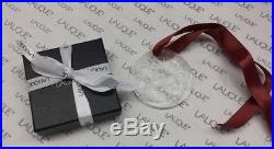 LALIQUE 2017 Entrelacs Clear Crystal Christmas Ornament New in Box Gift Wrap