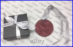 LALIQUE 2017 Entrelacs Red Color Crystal Christmas Ornament New in Box Gift Wrap