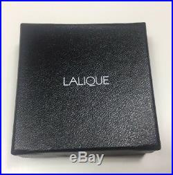 LALIQUE CRYSTAL ORNAMENT RED satin ELYSEES 2015 Xmas Tree Mint in Box
