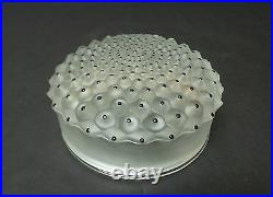 LALIQUE FROSTED CRYSTAL CACTUS No. 1 POWDER BOX with ENAMEL DECORATION