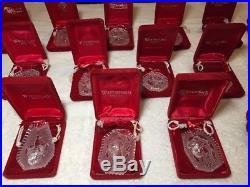 LOT! Waterford Crystal 12 Days of Christmas Ornaments 1981-1995 Set Of 17 Rare