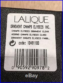 Lalique 2016 Oak Chene Crystal Christmas Sealed Box Ornament Annual Ornament