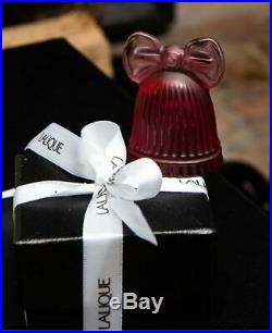 Lalique 2018 Christmas Bell Decoration Red Crystal Ornament New In Box