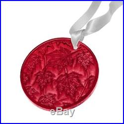 Lalique Crystal 2015 Annual Christmas Ornament Champs Elysees Red 10491200
