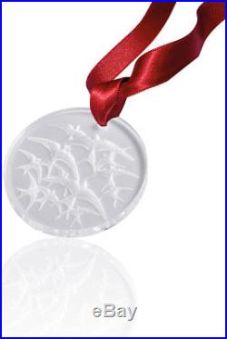 Lalique Crystal 2018 Swallows Christmas Ornament Clear #10647000 Brand New