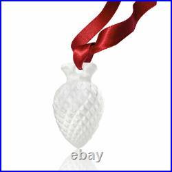 Lalique Crystal 2019 Pine Cone Christmas Ornament Clear #10686000 Brand Nib F/sh