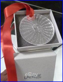 Lalique Crystal Masque De Femme Annual Noel Christmas Ornament 2011 Mint in Box