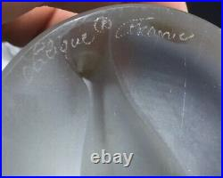 Lalique France Antique Crystal Glass Nude Woman Chrysis Hood Ornament Figurine