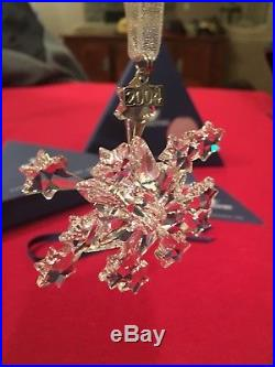 Large 2004 Swarovski Crystal SNOWFLAKE CHRISTMAS ORNAMENT Rockefeller Center