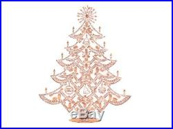 Large Czech handmade rhinestone Christmas tree crystal clear bells and baubles