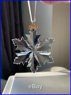 Large Swarovski Crystal Annual Christmas Ornament 2014 SNOWFLAKE NIB 5059026