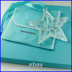 Large Tiffany & Co Crystal Glass Star Holiday Tree Ornament