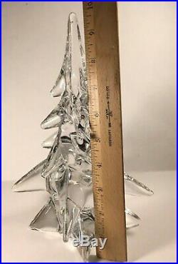 Large Vintage Art Glass Christmas Tree Statue HEAVY Display Twist Sigma CRYSTAL