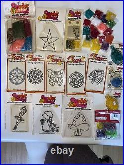 Lot MAKIT & BAKIT Ornament Craft Kits & CRYSTALS! MUSHROOM HOLLYHOBBY ORNAMENTS