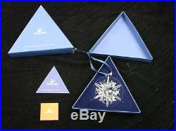 Lot of 10 Swarovski Austrian Crystal Star Christmas Ornaments 2000-2009 With Boxes