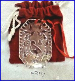 Lot of 12 Waterford Crystal 12 Days of Christmas Ornaments 1982 and 1985-1995
