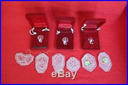 Lot of 17 WATERFORD Crystal 12 Days of Christmas Ornaments 1979-1995