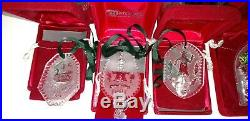 Lot of 20 vintage crystal Christmas ornaments Waterford 1977 1978 1980's 1990's