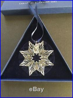Lot of 3 Swarovski Crystal Christmas Ornaments 1998 2002 2003 Snowflake Austria