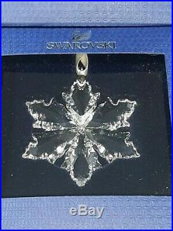 Lot of 4 Little Swarovski Crystal Annual Snowflake Christmas Ornaments 2014-'17