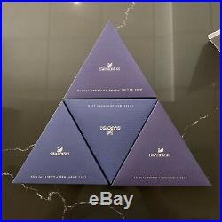 Lot of 4 Swarovski Christmas Crystal Ornament 2016 2017 2018 2019 NO COA