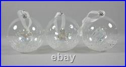 Lot of 6 Swarovski Crystal Annual Christmas Ball Ornaments 2014-2019 MIB