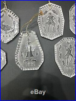 Lot of 6 Waterford Crystal Christmas Ornaments Set 1988 89 91 93 94 95 Final