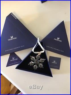 Lot of 8 Authentic Crystal Swarovski Christmas Ornaments 2005-2011 Stars + Angel