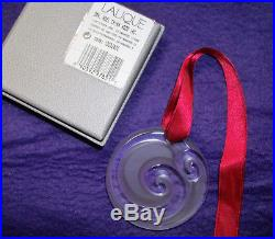 Lovely! Lalique Crystal France CHINA MOOD 2008 CHRISTMAS ORNAMENT