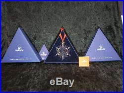 MIB 2002 Swarovski Annual Crystal Snowflake Star Christmas Ornament