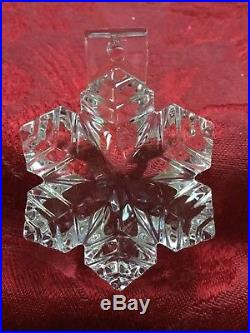 MIB FLAWLESS Exquisite BACCARAT Art Crystal 3D NOEL SNOWFLAKE Christmas ORNAMENT