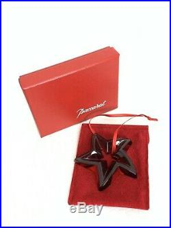 MIB FLAWLESS Exquisite BACCARAT France Crystal Red STAR Christmas Tree ORNAMENT