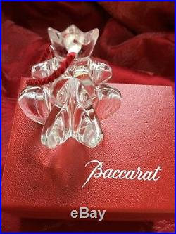 MIB FLAWLESS Stunning BACCARAT Art Glass NOEL POMPON Crystal Christmas Ornament