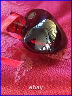 MIB FLAWLESS Stunning BACCARAT France Glass HEART Crystal Christmas ORNAMENT