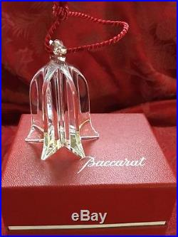 MIB FLAWLESS Stunning BACCARAT France Glass NOEL BELL Crystal Christmas ORNAMENT