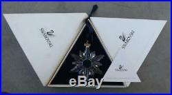 MIB Swarovski Crystal 1998 Annual Christmas Ornament Snowflake Box Certificate