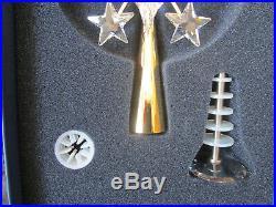 MIB Swarovski Crystal Gold Snowflake Christmas Tree Topper 9443 000016