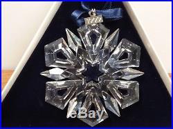 MINT 1999 SWAROVSKI CRYSTAL Christmas Snowflake Ornament c/ both boxes COA