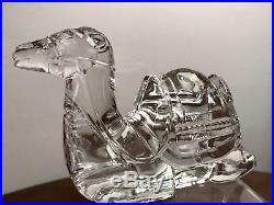 MINT! RARE! Waterford Irish Crystal CAMEL & BOX Nativity Collection XMAS Holiday