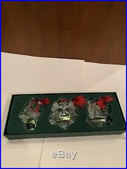 Marquis Waterford Crystal 3rd In Series Ornaments Set Of 3 12 Days Of Christmas