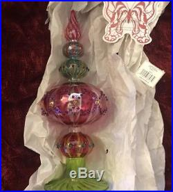 Marquis Waterford Crystal Carnivale Venetian Christmas Tree Topper