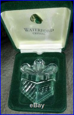 Marquis Waterford Crystal Christmas Ornaments Bear Wreath Bell Santa Train etc