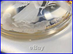 Mib 2006 Authentic Faberge Crystal Round Angel Christmas Imperial Ornament