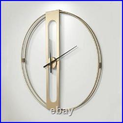 Modern Design Large Metal Wall Clock Luxury 3D Art Living Room Home Decoration