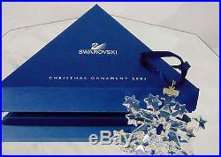 NEW 2004 Swarovski Crystal Star SNOWFLAKE CHRISTMAS ORNAMENT Rockefeller Center