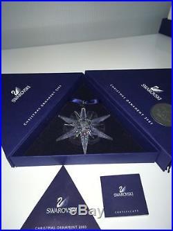 NEW 2005 Swarovski Crystal Annual Star/Snowflake Christmas Ornament