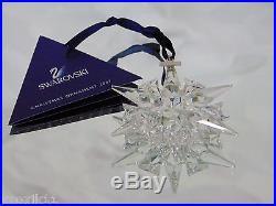 NEW 2007 Swarovski Crystal STAR Snowflake CHRISTMAS ORNAMENT Annual Ltd Ed NIB