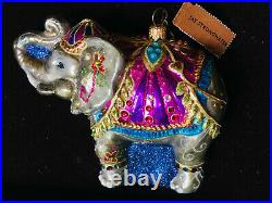 NEW In Box/ Tag JAY STRONGWATER Parading Elephant Ornament Swarovski Crystals