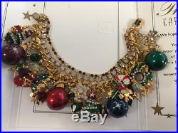 NEW Lunch at The Ritz Bracelet Christmas Brunch CRYSTALS $340 withCARD Ornaments